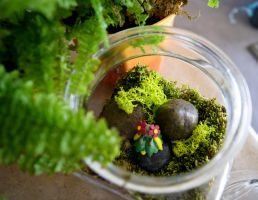 Bellossom Pokemon Terrarium by MaForet