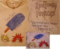 Kingdom Hearts Custom T-Shirt by ICannotDrawToSaveMe