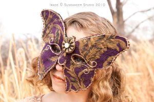 Purple Butterfly Mask by CostumeSalon