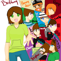 My favorite youtube people,DA pplz,And friends by KatnissMinecraftwolf