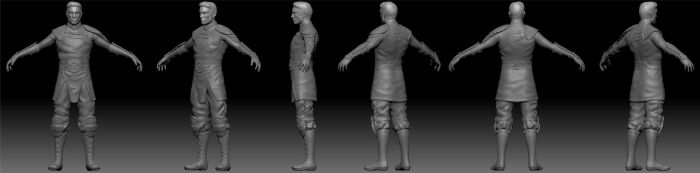 WIP - High Poly Character by Nephrae