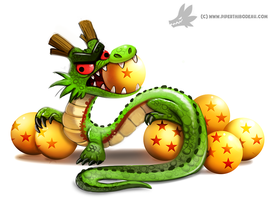Daily Paint #1004. Shenron by Cryptid-Creations