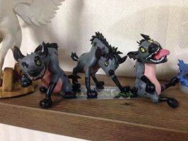 Clay Figure: Hyenas(the Lion King) by DinoeArchelon