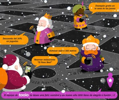 Xmas e-card for Tooio by lllaria