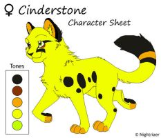 Cinderstone Character Sheet by Nightrizer