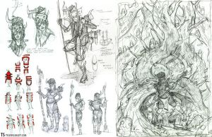 Summoner Sketch Page by TylerScarlet