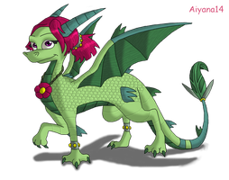 Dragon for Lucile by CartoonSilverFox