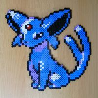 Espeon sprite beads by Chiki012