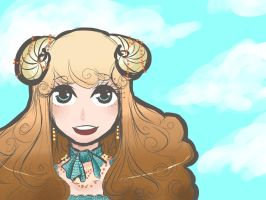 Sheep Girl and the Sky by Berry-Sugar-Kiss