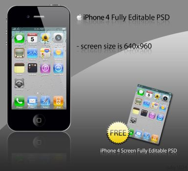 iPhone 4 PSD Pack by ruky1024