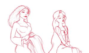 Gothel and Rapunzel by kra