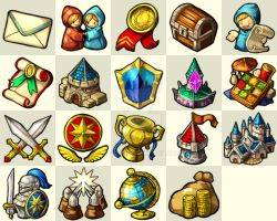 Nirvaniverse : Game Icon set by Sa-Dui