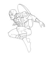 Captain America jump (work in progress) by chiryogatito