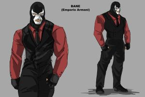 Bane Shirt and Tie by darknight7