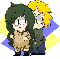 Aoki and Tweek by Ask-Fiona