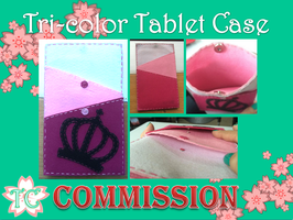 Tri-Color Tablet Case by TealCreations