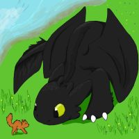OMG BACKGROUND...er, Toothless by NeoTheBean