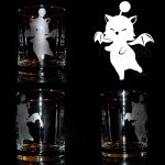 Moogle Etched Glass Design by Ranefea