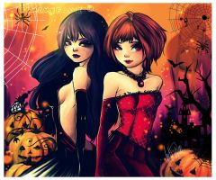 Happy Halloween SakuxTomo by Remembrance7