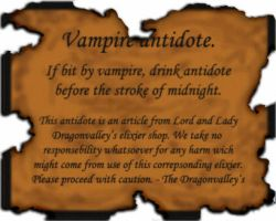 vampire antidote label by kaffemustasj