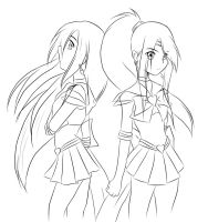 Sailor Sun and Sailor Star Version 2 by darkened-storm