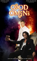 Good Omens movie poster by HornedButterfly