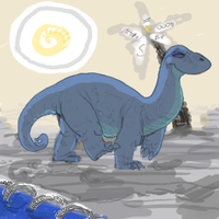 The Dinosaaaaur. by KelpGull