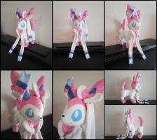 Sylveon Eeveelution Plushie by Miss-Zeldette