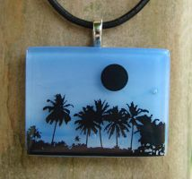 Tropical Paradise Fused Glass by FusedElegance
