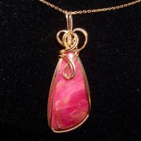 Rhodonite Pendant In Gold by innerdiameter