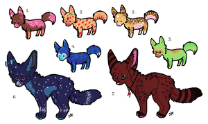 Fox adoptables - 10 points :OPEN: by xRainbow-adoptsx