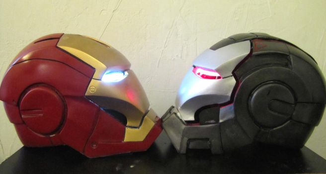 Iron man and War machine helm2 by NMTcreations