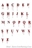 Stock Font 1 - Blood by Raven-Fonts