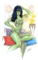 Orion Slave Green Girl by Elias-Chatzoudis