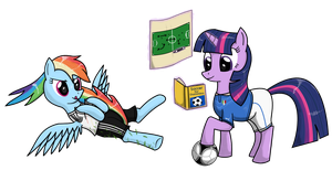 EM-Pony: Rainbow Dash vs. Twilight by Isegrim87