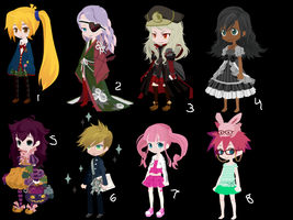 Free Adoptables 23 ~CLOSED~ by LatraiLovesAnime2