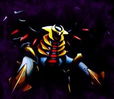 Giratina deep in black by Zeldemon