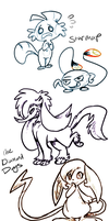 pmdu doodles by Shellyshockz