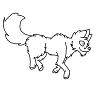 Free Wolf Lineart by BlueBudgie25