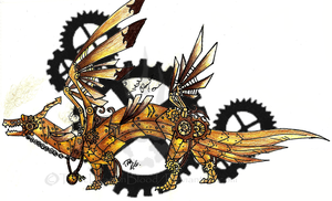Steampunk Dragon by ToxicDragonBlood