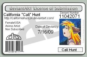 Deviant ID card by CaliforniaHunt24