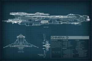 EVE Online Chimera Schematic by Titch-IX