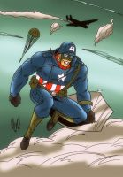 Captain America from The Ultimates by violencejack666