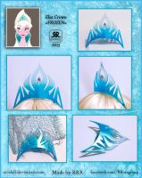 Frozen - Queen Elsa Crown - Ice-Blue Version by Rei-Doll
