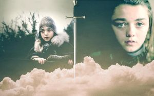 Arya Stark Wallpaper by peppermintfrogs