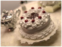 Miniature Cream Cake by ChocolateDecadence