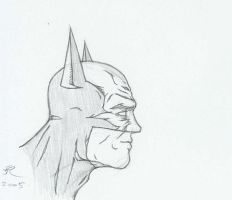Batman - profile view by Ultimate-Saiyan