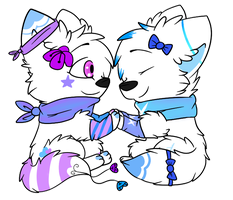 Chibis for PiStaacheXCoLaa by RegallyFlawed