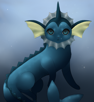 Vaporeon by Brindlesoul