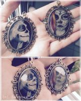 Day Of The Dead Pendants by SavanasArt